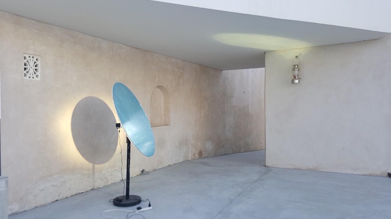 Sharjah Art Institute Heliostat Installation - LightManufacturing H1 Heliostat