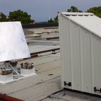 OKC Oklahoma Science Museum Heliostat LightManufacturing H1  Roof installation with down-mirror